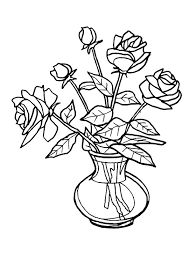 Drawings Of Flowers In A Vase Draw Colourful Flowers Images