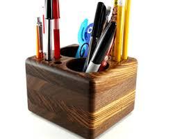 Pen Organizer For Desk Walnut Desk Caddy Etsy