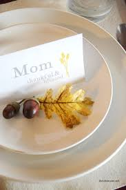Table Setting Cards - thanksgiving place cards the idea room