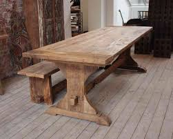Natural Wood Furniture by Pretty Natural Wooden Dining Table Classic Rustic Kitchen Table