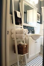 Bathroom Towel Hanging Ideas Bath Towel Rack View In Gallery White Ladder Bathroom Organizer