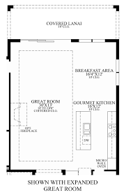 Great Room Kitchen Floor Plans by Toll Brothers At Eagle Creek Estate Collection The Sabel Home