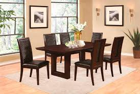 chocolate dining room table dark chocolate dining table co chet urban transitional dining