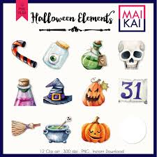halloween clipart sale halloween clipart watercolor clip art pumpkin witch cute