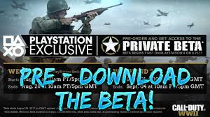 how to pre download the cod ww2 beta right now ps store youtube