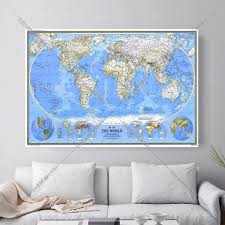 World Map Canvas Map Canvas Promotion Shop For Promotional Map Canvas On Aliexpress Com