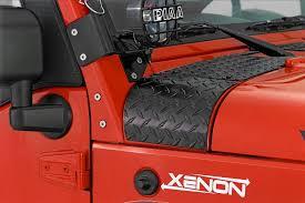 red customized jeep wranglers jeep body protection quadratec
