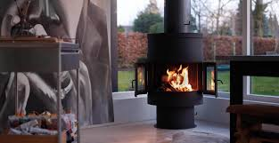 gas fireplace wood burning contemporary closed hearth 993