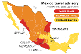 mexico in the world map mexico travel warning state department says avoid 5 states time