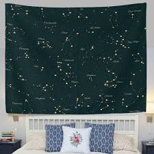 welllee 60x40 inch 12 constellation universe galaxy space stars
