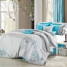 Twin Xl Grey Comforter Gray And Aqua Chevron Bedding Tags Gray And Teal Bedding Boho