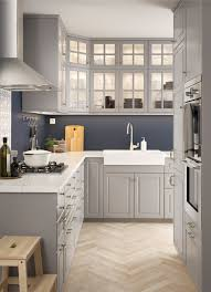 Base Cabinets Bodbyn And Marble L Shaped Kitchen With Traditional Wall And