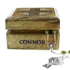 connemara marble rosary personalized blessing keepsake box with connemara marble