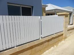 picket fences perth aluminium u0026 lattice picket fencing