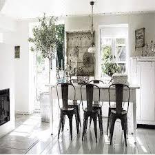white farmhouse table black chairs farmhouse dining table design ideas