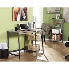 homestar 2 piece laptop desk and 4 shelf bookcase set in reclaimed