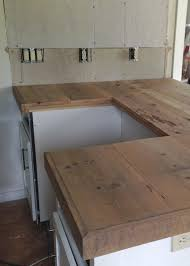 Putting Trim On Cabinets by Diy Reclaimed Wood Countertop Reclaimed Wood Countertop Trim