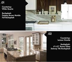 color kitchen cabinets with granite countertops 8 beautiful kitchen countertop backsplash combinations