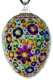 awe blown glass easter egg ornament traditional