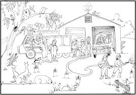 firefighter truck coloring pages fire safety coloring pages