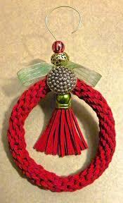 Christmas Ornament With Photo Lisa Liza Lou Kumihimo Christmas Ornament With Dazzle It