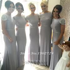 silver wedding dresses for brides saudi arabic silver grey mermaid bridesmaid dresses plus size