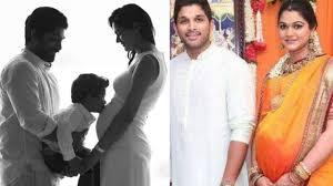allu arjun blessed with a baby allu arjun wife sneha