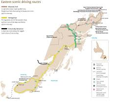 Eastern Canada Map by Eastern Newfoundland Scenic Driving Routes Map