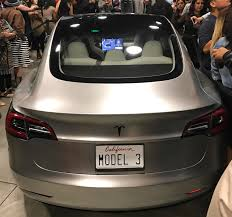 gorgeous silver model 3 becomes centerpiece at tesla employee party