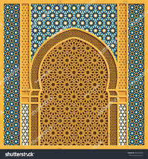 Traditional by Vector Arabic Background Traditional Window Frame Stock Vector