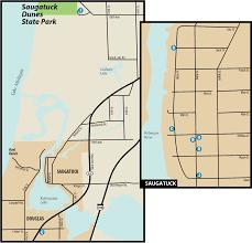 Holland Michigan Map by Saugatuck Dunes State Parkmaps U0026 Area Guide Shoreline Visitors Guide