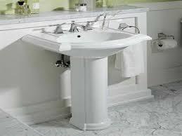 pedestal sink bathroom design ideas wall pmcshop
