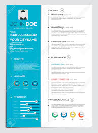 Resume Vector Flat Resume With Infographics Resume Cv Set Vector Royalty Free