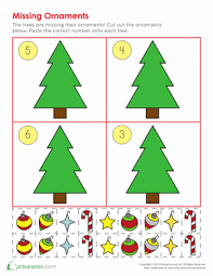 ornament counting worksheet education