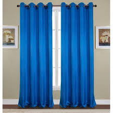cool blue grommet curtains and twopages faux linen three pieced