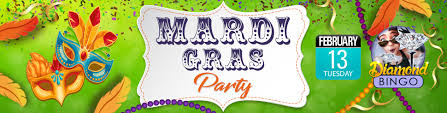 mardi gras bingo cyberbingo mardi gras party feb18