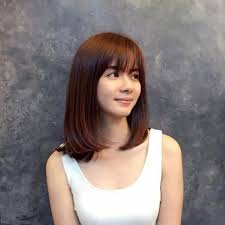 shoulder length korean shoulder length hairstyles shoulder length bob cut with