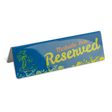 metal reserved table signs metal reserved signs