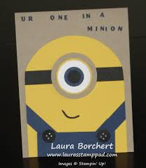 Minions Invitation Card One In A Minion Laura U0027s Stamp Padlaura U0027s Stamp Pad
