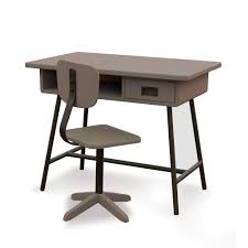bureau design enfant bureau enfant design la classe et chaise d atelier taupe laurette