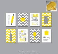 gray and yellow kitchen ideas kitchen wall print set eat drink yellow grey black