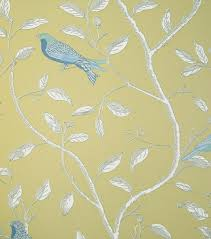 wallpaper with birds finches wallpaper wallpaper stone cottages and yellow hallway