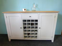 painted shaker style sideboard with wine rack bespoke kitchen