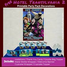 hotel transylvania cake toppers free hotel transylvania 2 printable party decoration pack