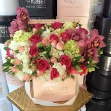 flowers in a box beautiful roses and flowers in pink box garden of kisses