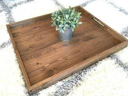 Wooden Trays For Ottomans Coffee Tray Stenciled Coffee Tray Diy Coffee Table Tray Ideas
