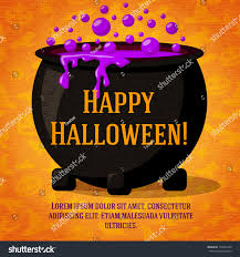 halloween witch pot happy halloween cute retro banner on stock vector 152497226