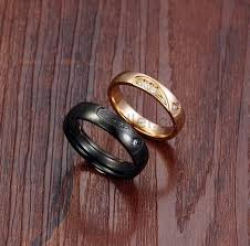 build your own wedding ring customized black gold titanium wedding rings set for 2