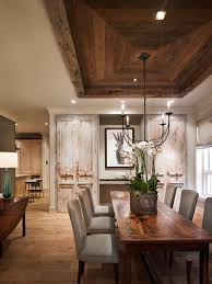 White Wood Ceiling by We Installed Our Barn Wood Skins On This Dining Room Tray
