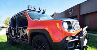 new jeep renegade black sema sneak peek new jeep renegade accessories motor city